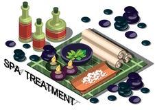Illustrazione del concetto grafico di trattamento della stazione termale di informazioni Immagini Stock Libere da Diritti
