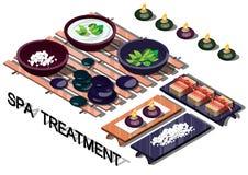 Illustrazione del concetto grafico di trattamento della stazione termale di informazioni Immagini Stock
