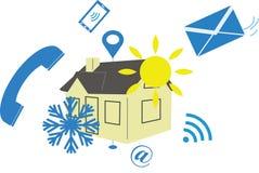Illustrazione del condizionamento d'aria per la pagina del contatto di web illustrazione vettoriale