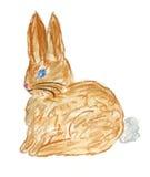 Illustrazione del coniglio del Brown Immagini Stock Libere da Diritti