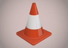 Illustrazione del cono di sicurezza o di traffico Fotografie Stock Libere da Diritti