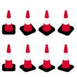 Illustrazione del cono di traffico Fotografie Stock