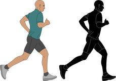 Illustrazione del corridore maratona illustrazione vettoriale