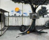 Illustrazione del cortile Fotografia Stock