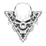 Illustrazione del cranio Fotografia Stock