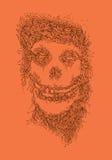 Illustrazione del cranio degli indumenti sbagliati Fotografia Stock Libera da Diritti