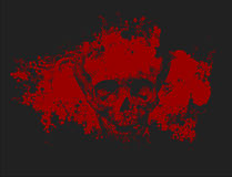Illustrazione del cranio delle zombie Fotografie Stock
