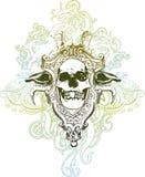 Illustrazione del cranio di morte Fotografia Stock Libera da Diritti