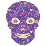 Cranio floreale Immagine Stock