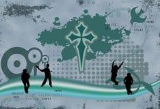 Illustrazione del cristiano di Grunge Immagini Stock Libere da Diritti