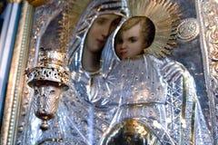 Illustrazione del cristiano e della candela Immagini Stock Libere da Diritti