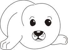 Illustrazione del cucciolo di guarnizione Fotografia Stock Libera da Diritti