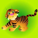 Illustrazione del cucciolo di tigre allegro Immagine Stock