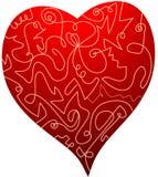 Illustrazione del cuore Fotografia Stock Libera da Diritti