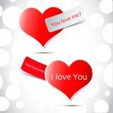 illustrazione del cuore del biglietto di S. Valentino su backg astratto Fotografia Stock Libera da Diritti