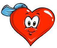 Illustrazione del cuore del fumetto - coloritura Fotografie Stock Libere da Diritti