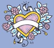 Illustrazione del cuore di amore illustrazione vettoriale