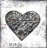Illustrazione del cuore di Grunge royalty illustrazione gratis