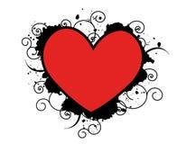 Illustrazione del cuore di Grunge Immagine Stock