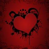 Illustrazione del cuore di Grunge Fotografia Stock