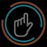 Illustrazione del cursore della mano di vettore - il simbolo del puntatore del mouse ha isolato illustrazione vettoriale