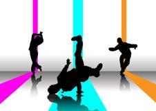illustrazione del danzatore delle 3 rotture Fotografie Stock Libere da Diritti