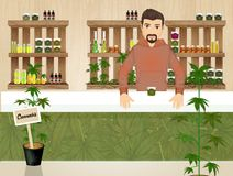 Illustrazione del deposito della cannabis illustrazione di stock