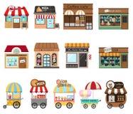 Illustrazione del deposito del negozio della raccolta illustrazione di stock