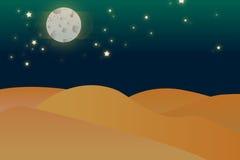 Illustrazione del deserto di notte Fotografie Stock