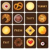 Illustrazione del dessert e delle merci al forno Fotografie Stock Libere da Diritti