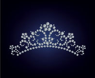 Illustrazione del diadema del diamante Immagini Stock