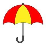 Illustrazione del disegno isolato del fumetto dell'ombrello Fotografia Stock