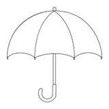 Illustrazione del disegno isolato del fumetto dell'ombrello Immagini Stock