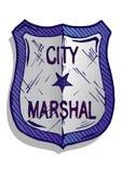 Illustrazione del distintivo del maresciallo Fotografia Stock