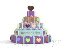 Illustrazione del dolce di festa della mamma Fotografia Stock Libera da Diritti