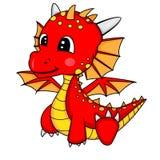Illustrazione del drago sveglio del bambino del fumetto Immagini Stock