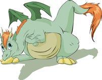 Illustrazione del drago verde Immagine Stock