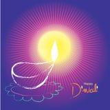 Illustrazione del festival di Diwali dell'indiano fotografia stock