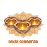 Illustrazione del festival di Diwali dell'indiano Fotografie Stock Libere da Diritti