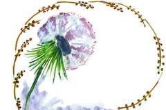 Illustrazione del fiore del dente di leone Immagine Stock