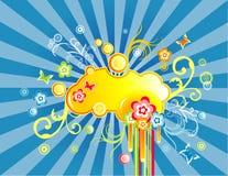 Illustrazione del fiore di fantasia di vettore Fotografie Stock