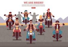 Illustrazione del fondo dei motociclisti Fotografia Stock Libera da Diritti