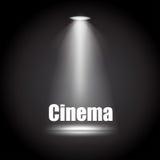 Illustrazione del fondo del cinema con il nero dell'ombra Illustrazione di Stock
