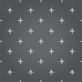 illustrazione del fondo del nero di viaggio dell'aereo di aria Fotografie Stock