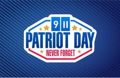 illustrazione del fondo del segno di giorno del patriota Immagine Stock