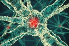 illustrazione del fondo della molecola 3d Fotografia Stock