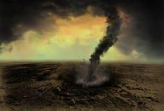 Illustrazione del fondo della nuvola dell'imbuto di tornado Fotografia Stock Libera da Diritti