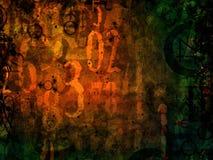 Illustrazione del fondo di astrologia dei numeri magici Fotografie Stock Libere da Diritti