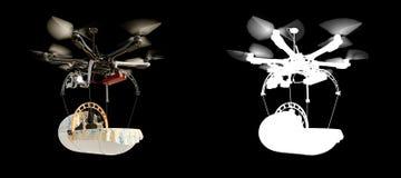Illustrazione del fondo di concetto di evoluzione di tecnologia del bambino della cicogna con l'alfa Fotografie Stock