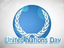 Illustrazione del fondo di giornata delle nazioni unite illustrazione vettoriale
